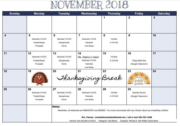 hb calendar 2