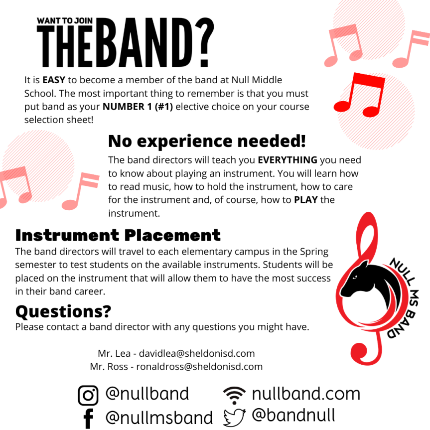 beginner band handout instagram post