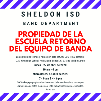 Sheldon isd band department (2)